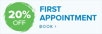 20% off first Appointment
